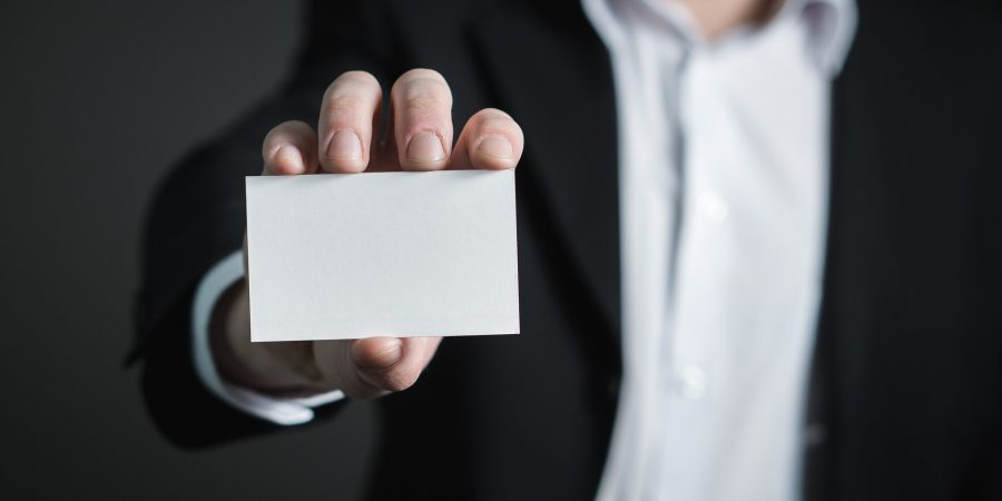 A perfectly blank business card, what will you put on yours?