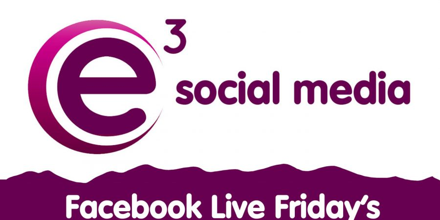 E3 Social Media, Facebook Live Friday's on Instagram