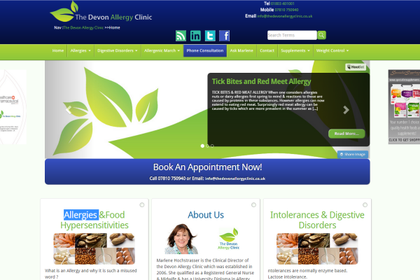 Responsive Design for The Devon Allergy Clinic